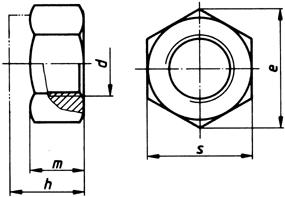 m3 mutter schlüsselweite